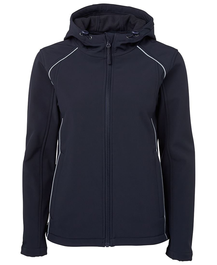 Custom JB's Ladies Hooded Soft Shell Jacket