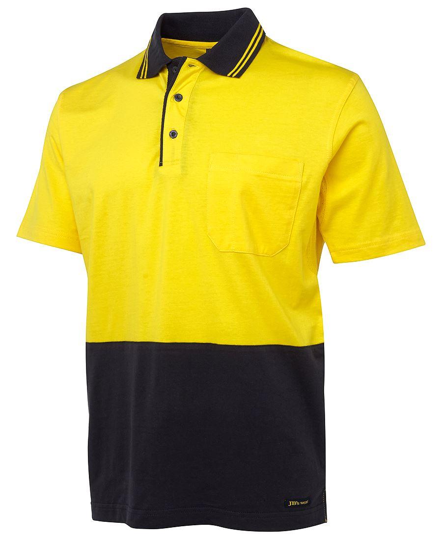 Custom jb s hi vis s s cotton polo buy plain or for Custom hi vis shirts