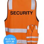 Orange Security Vests 20 Pieces
