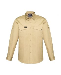 Mens Rugged Cooling Mens Long Sleeve Shirt Khaki