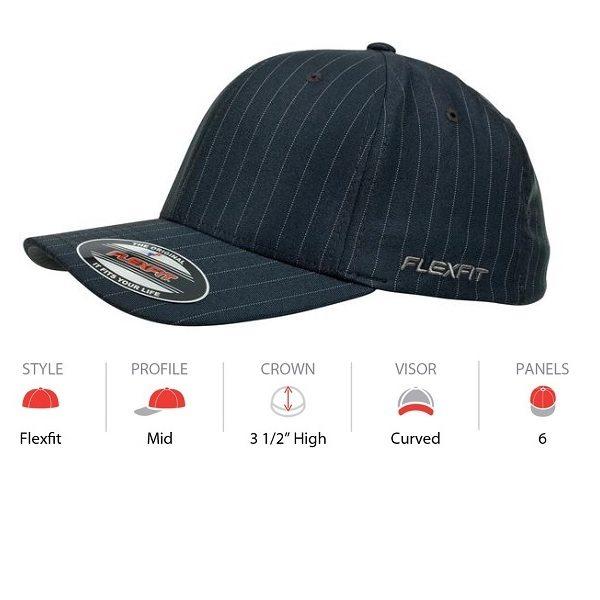 1ac391a7 Custom Flexfit Pinstripe Hat | Buy Plain or Customise Online